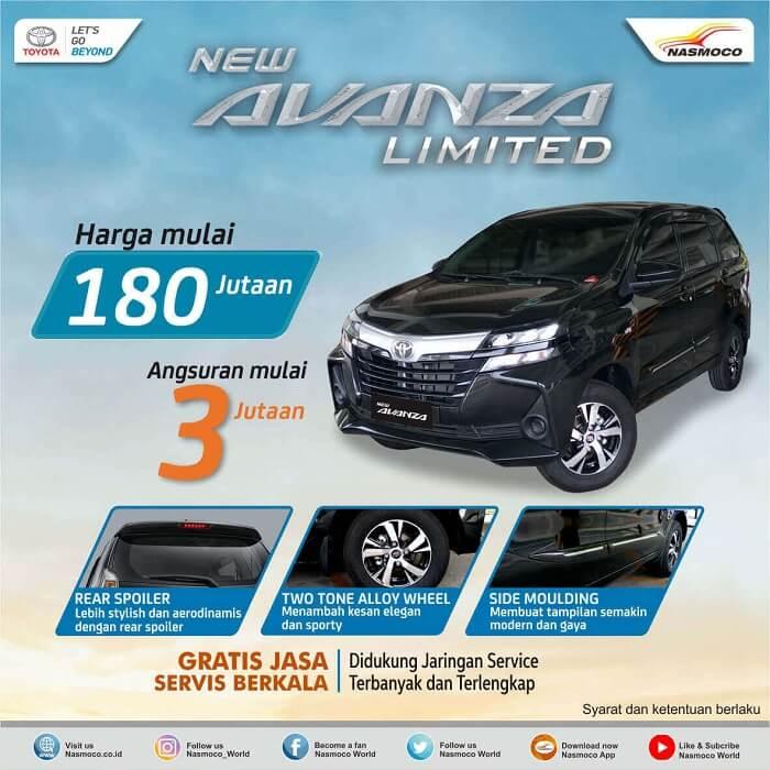 Promo Angsuran Murah New Toyota Avanza Limited